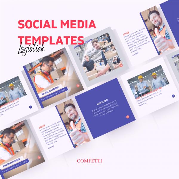 Social media Template Logistiek